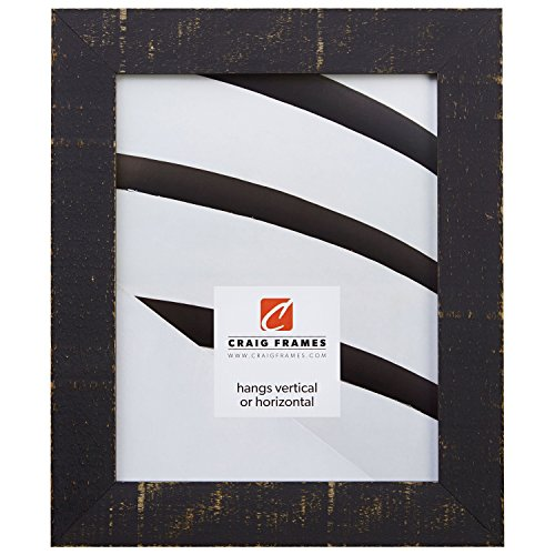 Black Finish Solid Wood - Craig Frames 150001 20 by 26-Inch Picture Frame, Solid Wood, Rustic Finish, 1.5-Inch Wide, Black