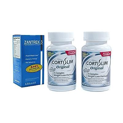 Basic Research Zantrex-3 84 ea and Cortislim Original Two Bottles