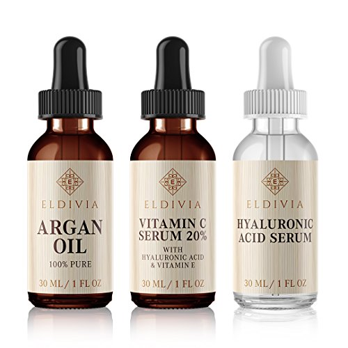 - Trifecta - Vitamin C Serum & Vitamin E + Pure Hyaluronic Acid Serum + Argan Oil Combo for Face, Skin & Eyes - Best Anti Aging Skin Care Kit - Reduces Wrinkles, Fine Lines & Acne Scars - Gift Set