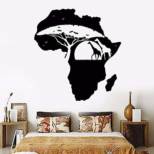 Vinilo Tatuajes de Pared Extraíble África Continente Paisaje Mapa ...