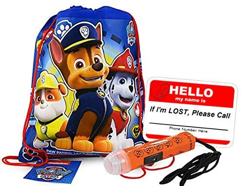 Paw Patrol Kids Reusable Drawstring Halloween Trick or Treat Loot Bag!! Plus Bonus