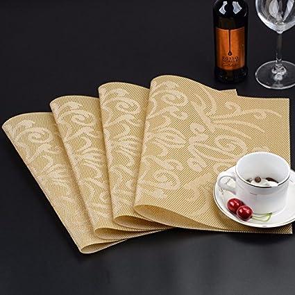 4 PVC para la mesa de comedor Pad almohadilla resistente al calor antideslizante pad no-