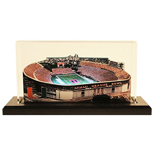 Miami Hurricanes Orange Bowl Stadium, Small Lighted in Display Case -