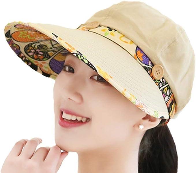 Gorros Sombrero para El Sol Mujer Sombrero De Playa Visera ...