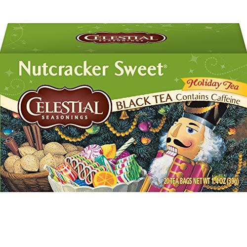 Tea Nutcracker Sweet Black - Celestial Seasonings Black Tea, Nutcracker Sweet, 20 Count (Pack of 6)