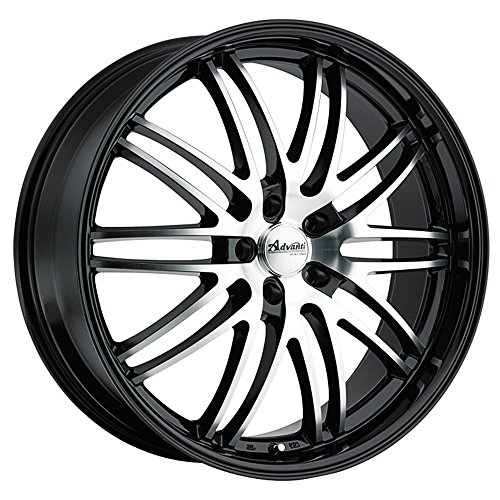 Advanti Racing Prodigo 20 Black Wheel / Rim 5×4.5 with a 20mm Offset and a 66.56 Hub Bore. Partnumber PO0A514205