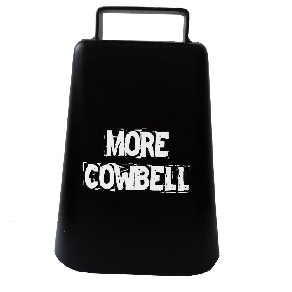 MORE COWBELL 5'' high Cow Bell for Cheering at Sporting Events: Hockey, Football, Soccer, Baseball, Cyclocross, Cycling by Cow-bell