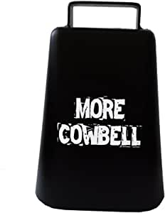"""MORE COWBELL 5"""" high Cow Bell for Cheering at Sporting Events: Hockey, Football, Soccer, Baseball, Cyclocross, Cycling"""