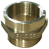 Dixon Valve FM1515F Brass Fire Equipment, Hex Nipple, 1-1/2'' NPT Female x 1-1/2'' NST (NH) Male