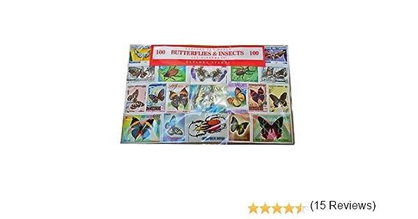 Colección Mundial de Sellos de Mariposas e Insectos - Conjunto de ...