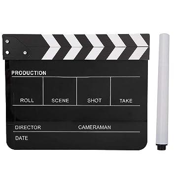 Neufday Plástico acrílico Película del Director Tablilla ...