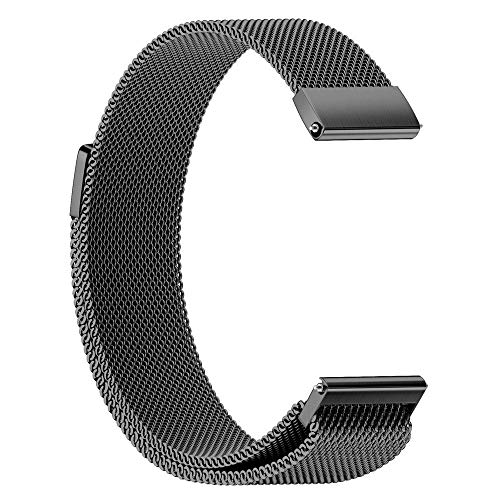 Junshion Milanese Magnetic Loop Stainless Steel Bracelet Watch Band Strap for Garmin vivoactive 3 Smart ()