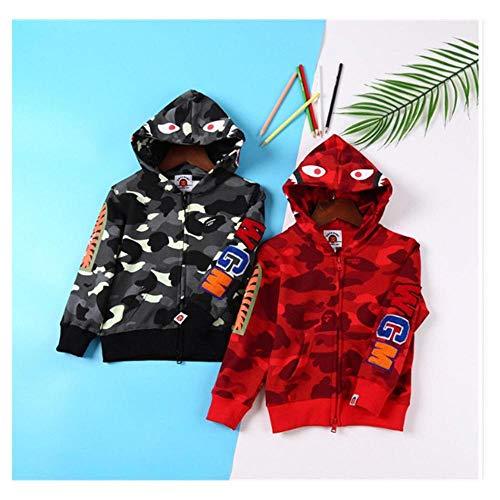 8b18a714dcb FidgetKute Unisex Kids Bathing APE Bape Shark Camo Hoodie Sweats Coat Jacket  02