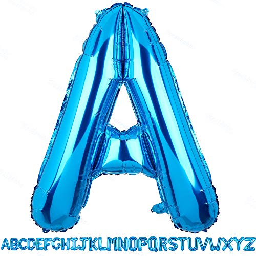 40 Inch Jumbo Blue Alphabet Mylar Foil Helium Letter Balloons Single Bridal Shower Anniversary Celebration Graduation Single Birthday Party Decorations]()