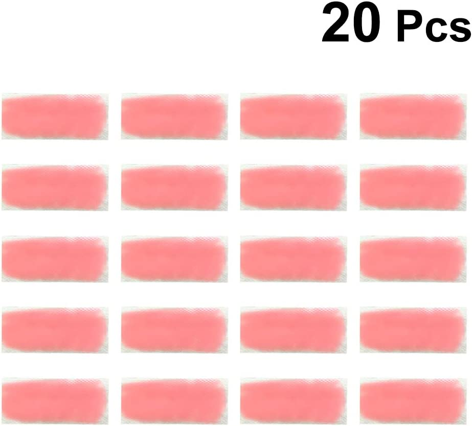 HEALLILY Summer Cooling Gel Patches Temperature Change Heatstroke Prevention Cooling Forehead Strips Drowsiness Refreshing Relieve Sunstroke Pad 20pcs (Pink)