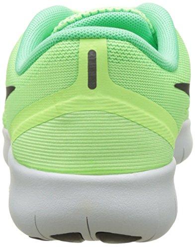 Nike Bambini Rn Gratuito (grande) Fantasma Verde / Nero