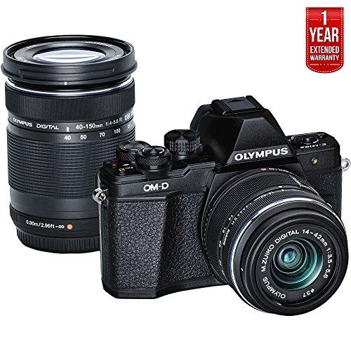 Olympus OM-D E-M10 Mark II Mirrorless Digital Camera Two Len