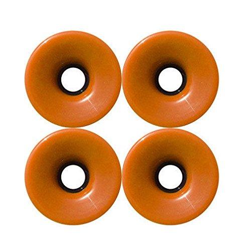 グループメール血まみれPro Longboard Cruiserスケートボードホイール76 mmソリッドオレンジ+ Bones Bearings
