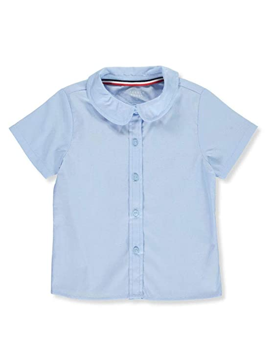 French Toast Toddler S/S Peter Pan Fitted Shirt - Blue, 2t