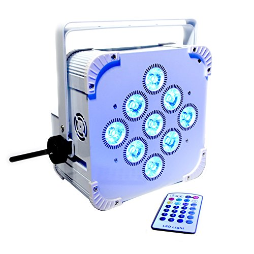 SMART 2 RGBWA+UV LED 9x18W Battery Powered WIRELESS DMX Par Can DJ Uplighting Up Light WHITE