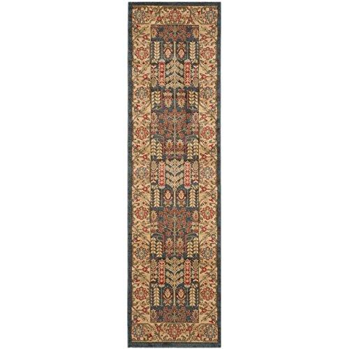 (Safavieh Mahal Collection MAH697E Navy and Natural Runner, 2'2