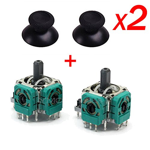 Epaler 2Pcs 3D Controller Joystick Axis Analog Sensor Module & ThumbStick for Xbox One