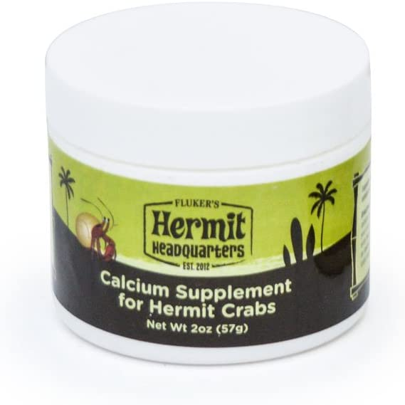 Flukers Calcium Supplement for Hermit Crabs with Honey Powder, 2-Ounce