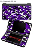 Nintendo DSi XL Skin WraptorCamo Digital Purple