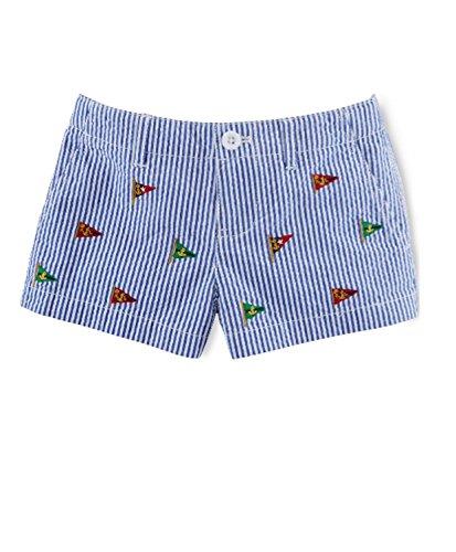 Ralph Lauren Girls' Embroidered Seersucker (6)