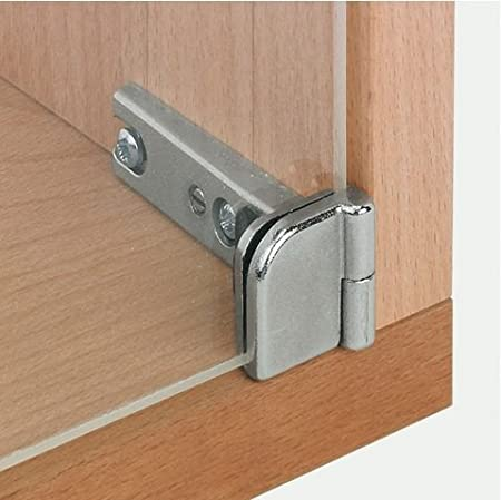 2 Pairs Of Glass Door Hinges For Cabinets 180 Degrees Inset Amazon