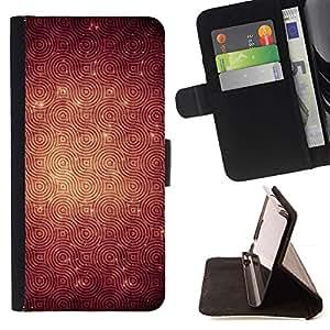 For HTC DESIRE 816 Case , Modelo de la textura de los anillos de reverberación- la tarjeta de Crédito Slots PU Funda de cuero Monedero caso cubierta de piel