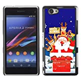 YOYO Slim PC / Aluminium Case Cover Armor Shell Portection //Christmas Holiday Santa Claus Holiday 1040 //Sony Xperia Z1 Compact