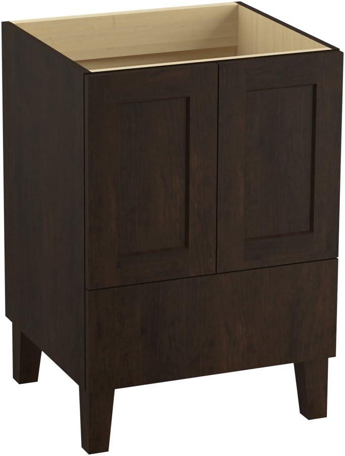 Kohler K 99527 Lg 1wb Poplin Vanity With Furniture Legs 2 Doors And 1 Drawer 24 Inch Claret Suede Amazon Com