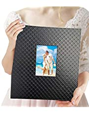 Wedding Photo Album 4x6 600 Photos - Elegant Leather Photo Album for Vertical & Horizontal 4x6 Pictures with Window
