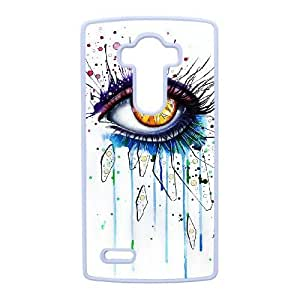 abstract Painting_001 TPU Cover Unique Phone Case White For LG G4