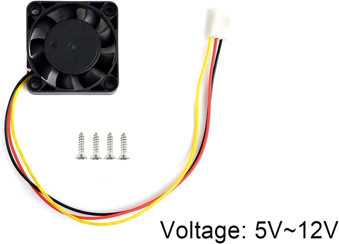 Waveshare Dedicated 5V~12V Voltage Cooling Fan for Jetson Nano 3PIN Reverse-Proof Connector