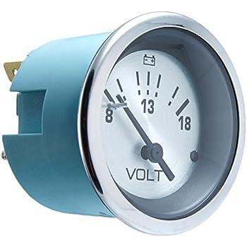 Sierra International 62539P White Premier Pro 20 to 32 Vdc Dial Range Scratch Resistant System Voltmeter 2