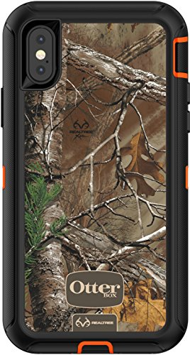 OtterBox DEFENDER SERIES Case for iPhone X/10 (Case Only - No Holster) BLAZE ORANGE/BLACK W/REALTREE XTRA CAMO