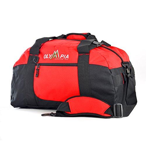 Olympia 21 Inch Sports Duffel, Red, One Size (Olympia Luggage Duffel)