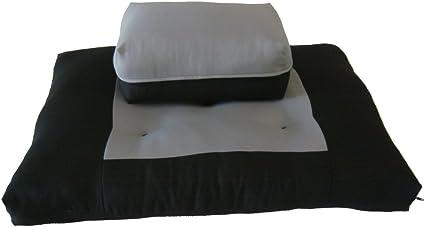 Seats Zafu Zabuton Set Mats Cotton Cushions Yoga Meditation Supports Black