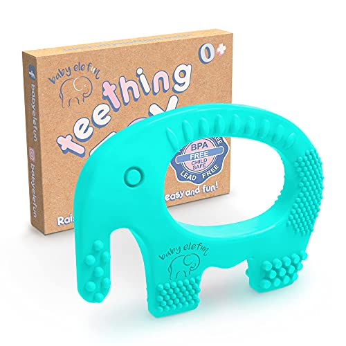 ADHD 4 Hollow Teething Tubes and 4 Fruit Teething Toys Biting SPD Soft Silicone Baby Teether for 0-6-12 Months Baby Help Soothe Teething Irritation Boys Girls with Autism