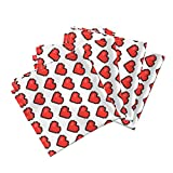 Roostery 8-Bit Pixel Heart Video Game Valentine Libertine Love Linen Cotton Dinner Napkins 8-Bit Heart ~ Libertine and by Peacoquettedesigns Set of 4 Dinner Napkins