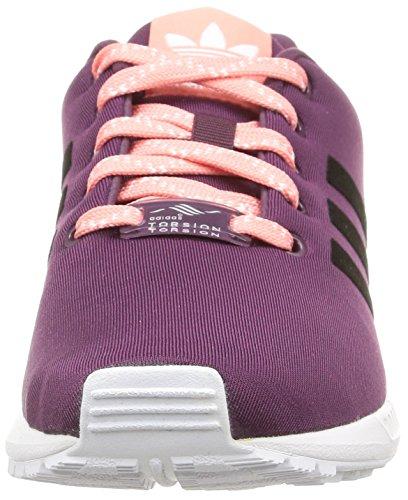 adidas Zx Flux J, Zapatillas para Niños Morado / Negro / Blanco / Rosa