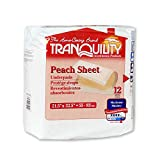 Tranquility Peach Sheet Underpads, Size 21 x 32, Case/60 (5/12s)