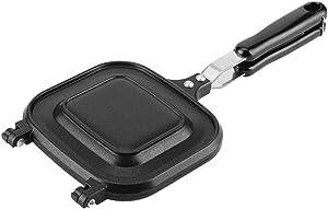 Fry Pan,Double-Sided Multifunction Fry Pan Sandwich Toaster Breakfast Maker Nonstick Baking Pan Sandwich Maker