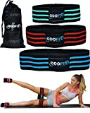 NEW Booty Resistance Hip Bands for Legs and Butt Workout Equipment-Set of 3 Fabric Non Slip Glute Elastic Bands for Exercise, Warm-Up and Squat -Activate Quads & Thighs, Thick, Wide Cloth, Women