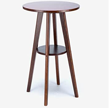 tabouret en bois table de bar en bois massif table ronde bar table haute table basse - Table Ronde Bar