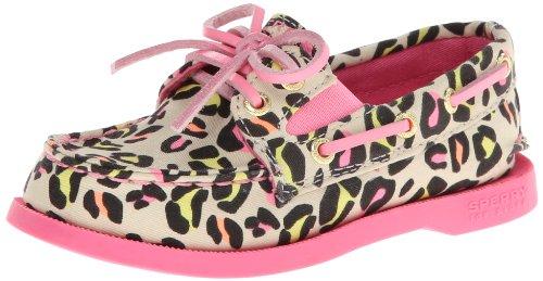 Sperry Top-Sider A/O Slip-On Boat Shoe (Toddler/Little Kid/Big Kid),Neon/Leopard Print,9 M US Toddler