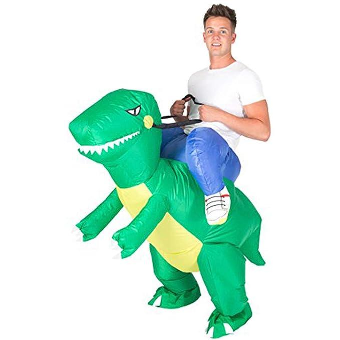 XINLUCK Caballo hinchable piloto disfraz t-rex disfraz dragón ...