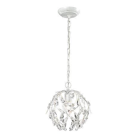 elk lighting circeo collection 1 light mini pendant antique white